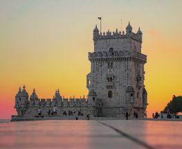 gray concrete castle during sunset